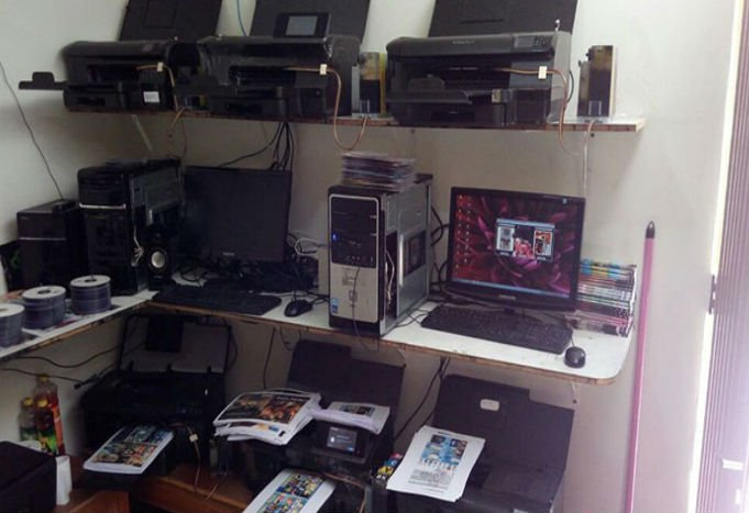 No local era fabricado 5 mil DVDs e CDs por dia (Crédito: Divulgação)
