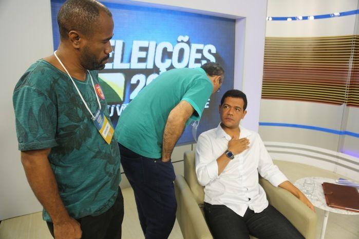 Bastidores do debate da Rede Meio Norte (Crédito: Efrém Ribeiro)