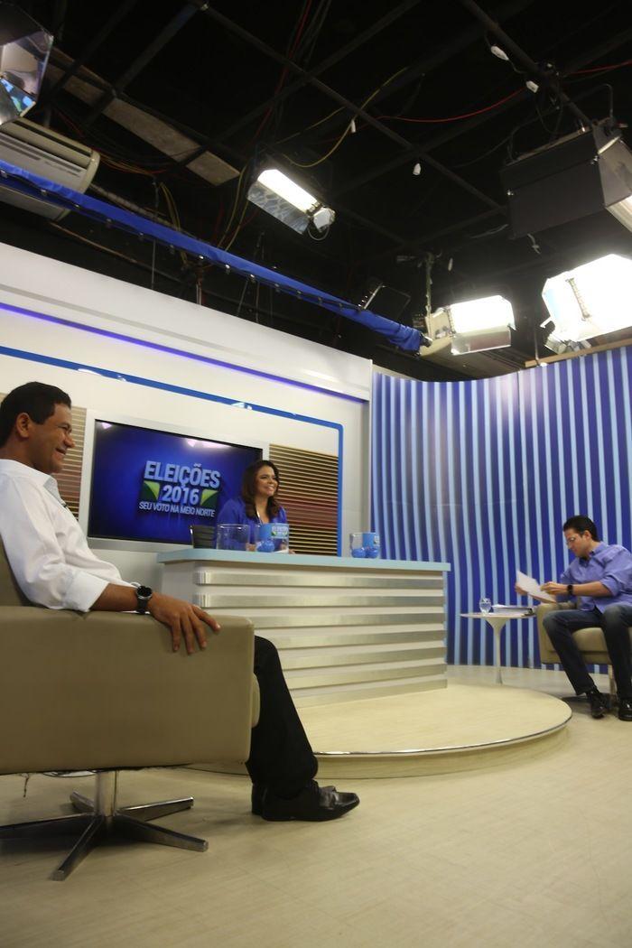 Candidatos participam de debate na Rede Meio Norte (Crédito: Efrém Ribeiro)