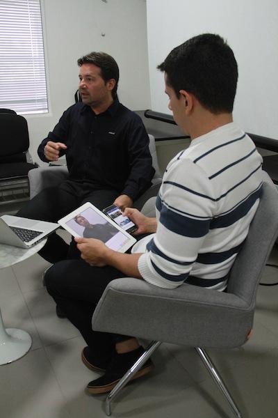 Bate-papo com Carlos Aragão (Crédito: Gabriel Paulino)