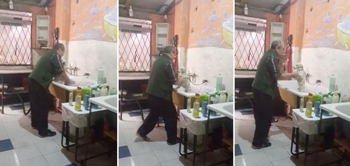 Vídeo viralizou na internet (Crédito: Reprodução)