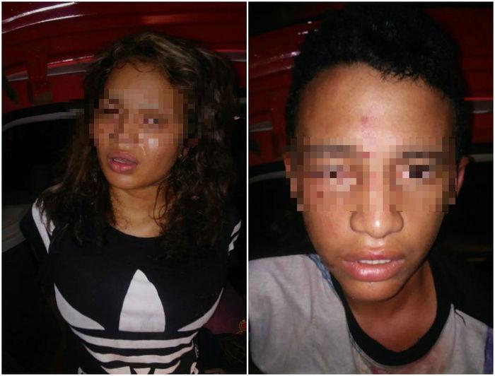 Jovens são espancados após assaltarem ônibus na zona sul  de THE (Crédito: Reprodução)