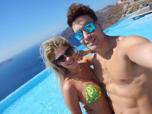 Bárbara ao lado do namorado Antônio Vilarejo (Crédito: Reprodução)