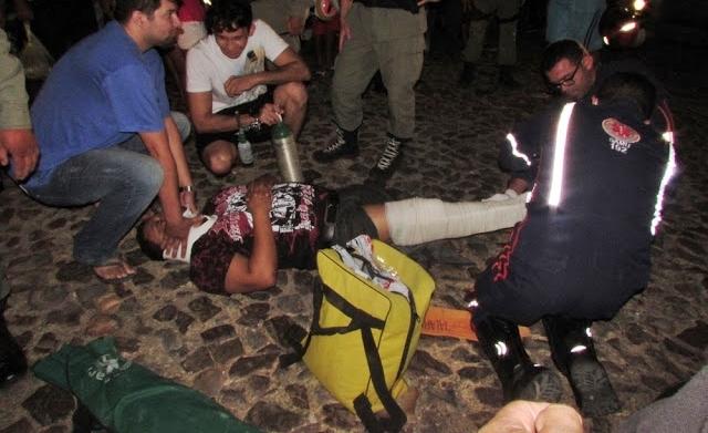Policial torce o pé ao evitar assalto e prender acusado no litoral (Crédito: Bloog do Pessoa)