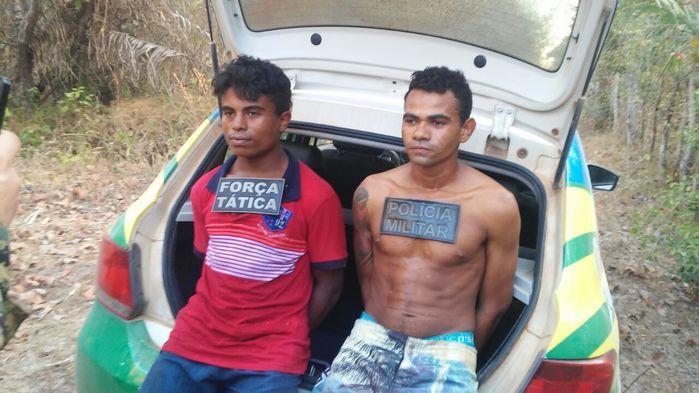 Os dois acusados (Crédito: Rede Meio Norte)