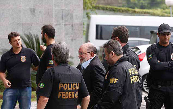 Prisão de Léo Pinheiro  (Crédito: Folhapress)