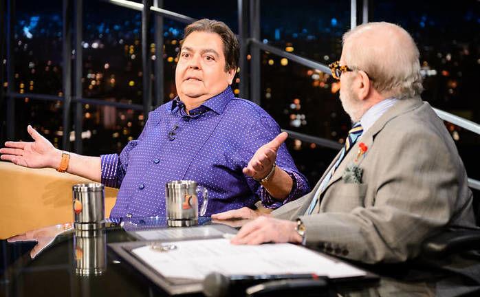 Entrevista de Faustão a Jô é marcada por falta de luz em estúdio (Crédito: Reprodução)
