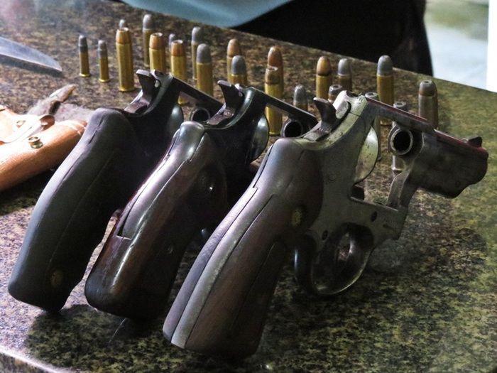 Armas negociadas pelo isoso (Crédito: Costa Norte)