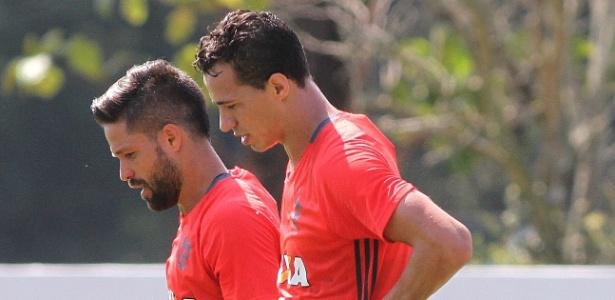 Leandro Damião e Diego treinam juntos (Crédito: Uol)