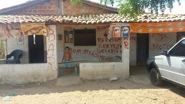 Residência onde aconteceu o crime (Crédito: Reprodução)