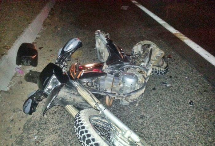 Moto modelo Bros conduzida pela vítima (Crédito: Cidadesnanet)