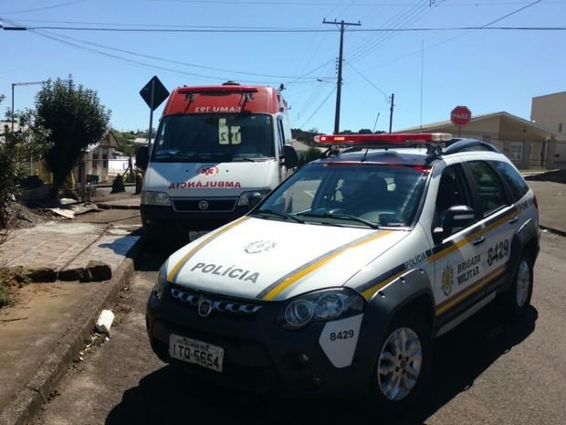 Ambulância do Samu foi furtada em meio a atendimento de paciente em Passo Fundo (Crédito: Reprodução)