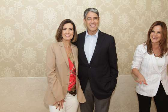 Fátima Bernardes e William Bonner (Crédito: Agnews)