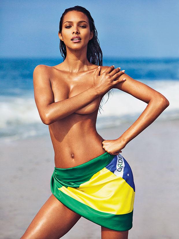 Lais Ribeiro posa sexy  (Crédito: Divulgação)