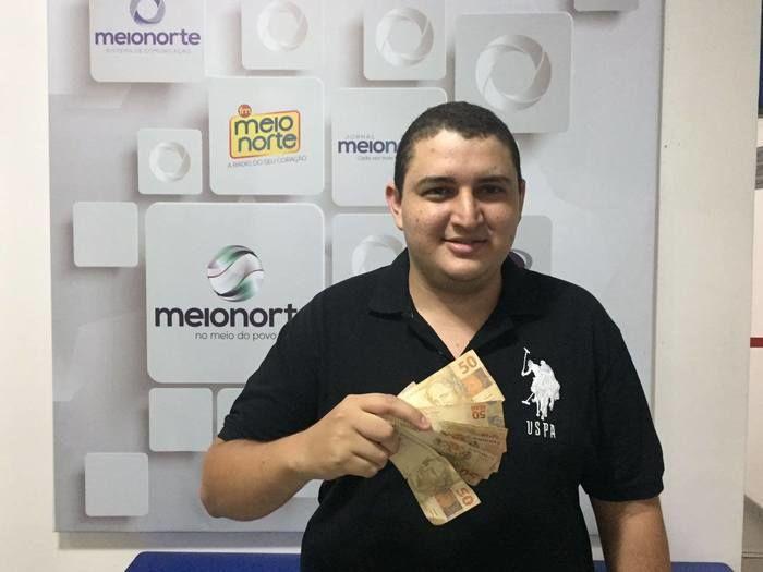 Guilherme de Sousa Matos, ganhador do prêmio (Crédito:  Waldelúcio Barbosa)