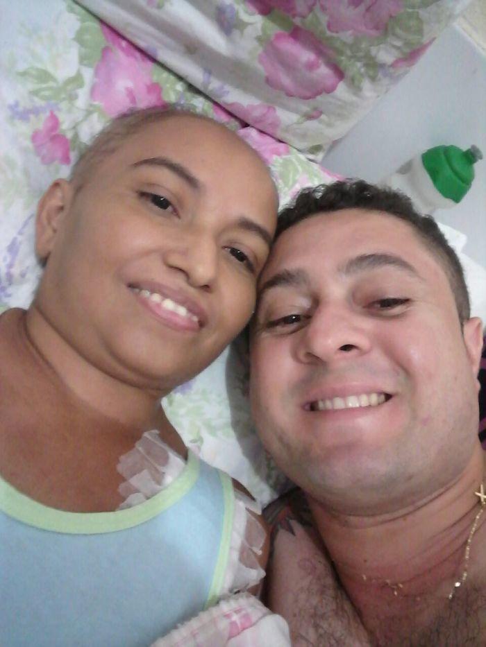 Luzinete Mendes da Silva e Marcos Vinícius (Crédito: Reprodução)