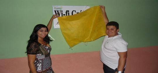 Prefeito Tairo Inaugura rede de internet grátis para a população