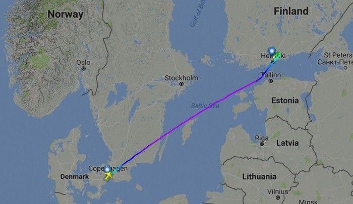 Percurso da aeronave (Crédito: Reprodução)