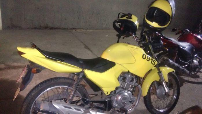 Motocicleta utilizada pelo acusado (Crédito: Reprodução)