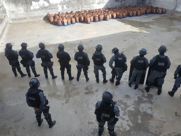 Rebelião controlada no Presídio Provisório Professor Raimundo Nonato, em Natal, pelo Batalhão de Operações Especiais