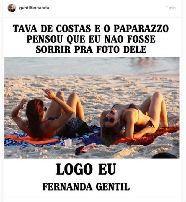 """Fernanda Gentil faz post com meme do momento: 'Logo eu..."""""""