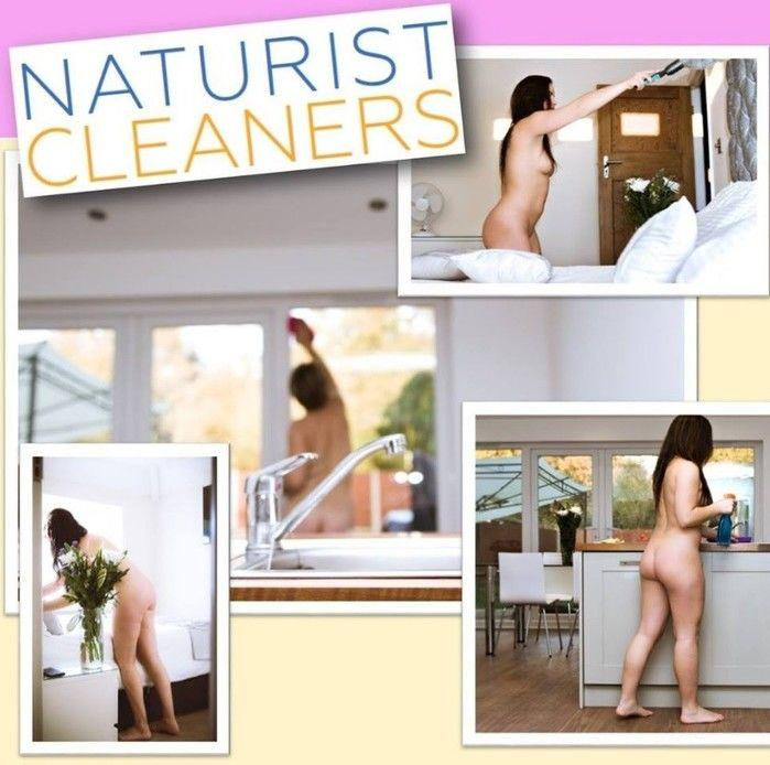 Empresa oferece serviço de faxineiras naturistas (Crédito: Reprodução)