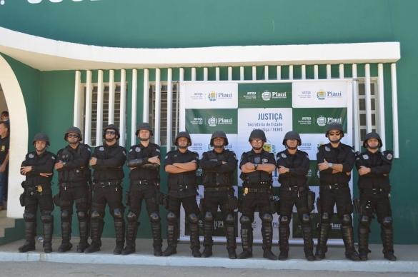 Grupo de Intervenção Prisiona (Crédito: Ascom Sejus)