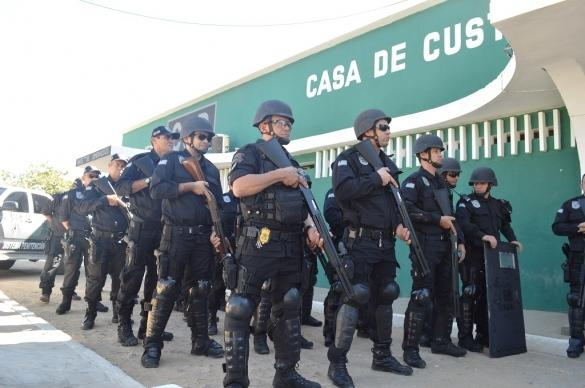 Tropa de Choque reforça segurança em presídios de Teresina (Crédito: Divulgação)
