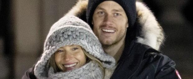 Gisele Bündchen e Tom Brady são fotografados em clima de romance