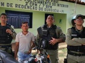 Policiais de Redenção do Gurguéia recuperam moto furtada