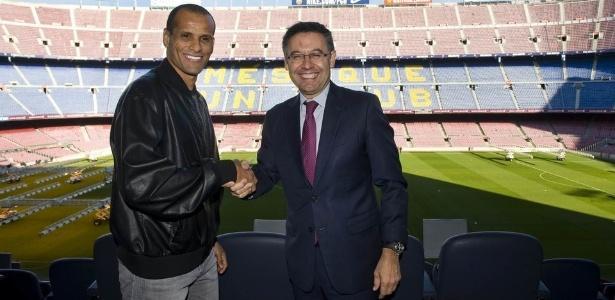Rivaldo no Camp Nou (Crédito: Reprodução)