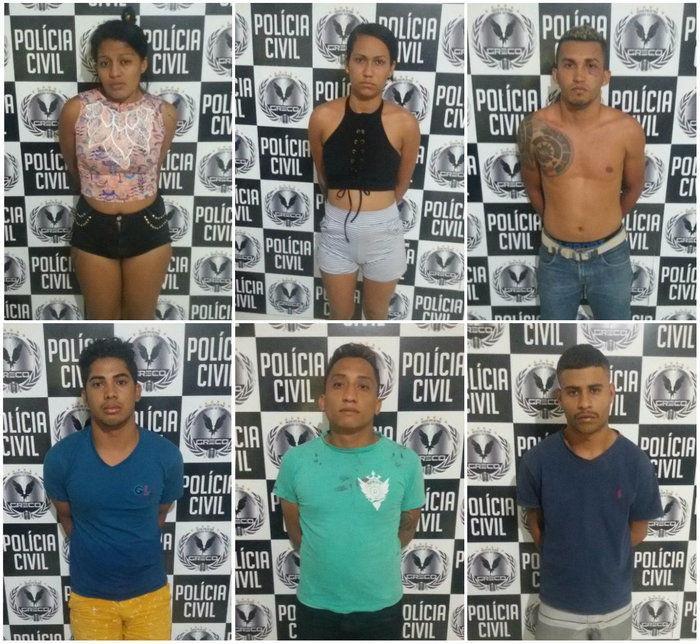 Foto de presos foram divulgadas (Crédito: Polícia Civil)