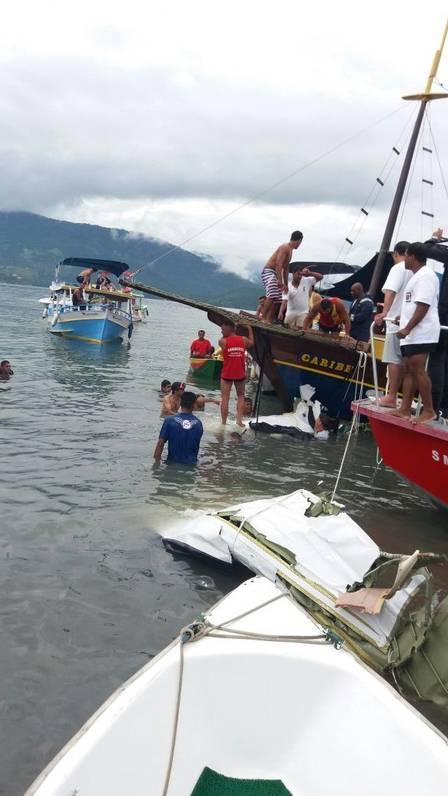 Destroços do avião que caiu em Paraty (RJ)