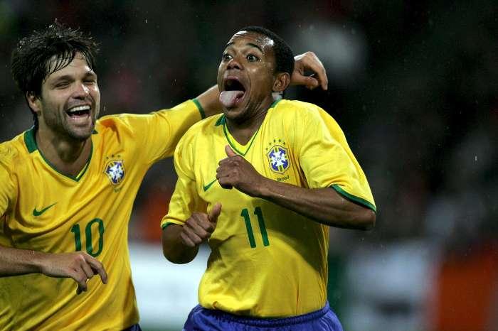 Robinho e Diego (Crédito: Reprodução)