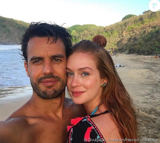 Marina Ruy Barbosa comemora um ano de namoro em Fernando de Noronha