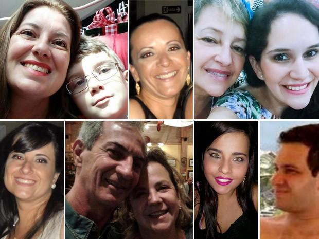 Montagem das vítimas da chacina em Campinas