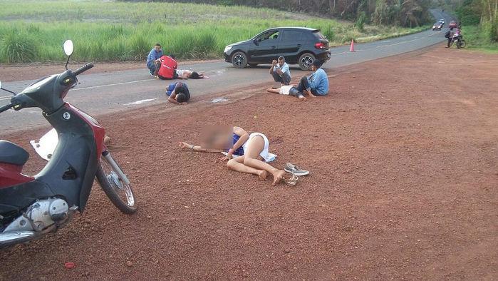 Acidente deixou jovem morta e quatro feridos (Crédito: Divulgação)