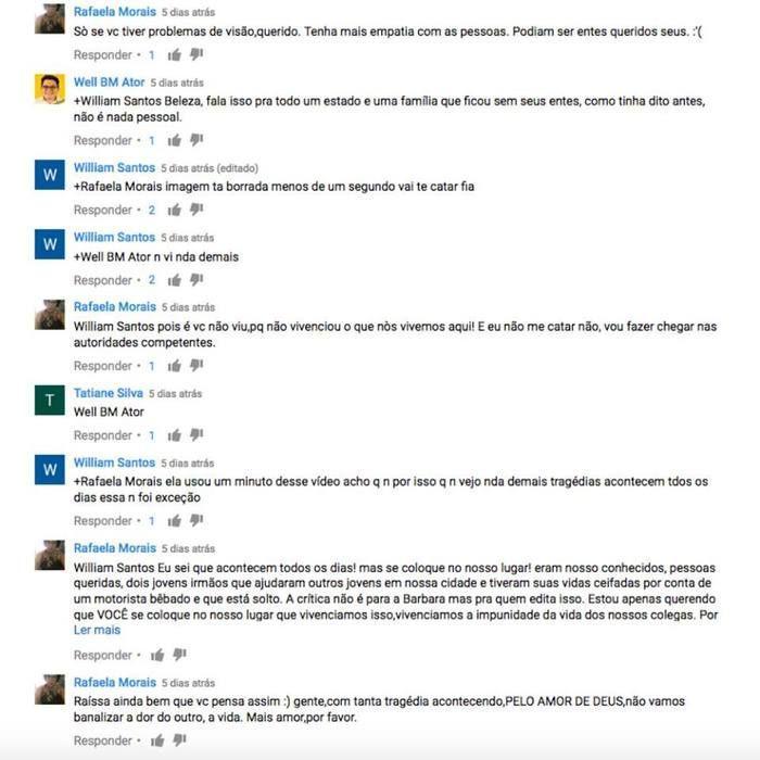 Usuários se revoltaram com a edição do vídeo (Crédito: Reprodução)