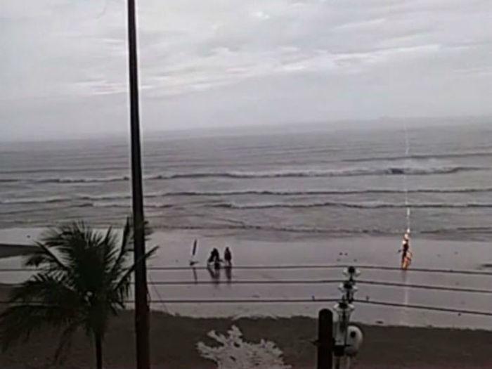 Talline foi ferida por um raio no litoral paulista