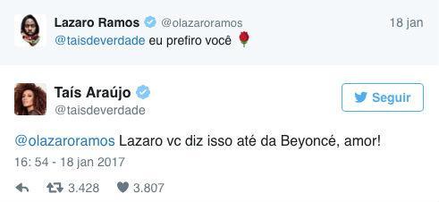 Participante do BBB provoca ciúmes de Taís Araújo nas redes sociais