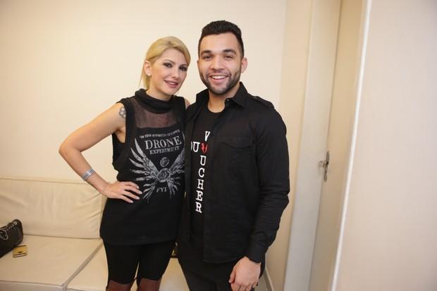 Antônia Fontenelle ao lado do ex-marido Jonathan Costa (Crédito:  Divulgação)