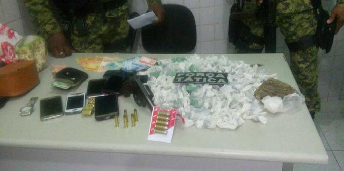 Quatro são presos com 363 trouxas de maconha após assalto (Crédito: Divulgação)