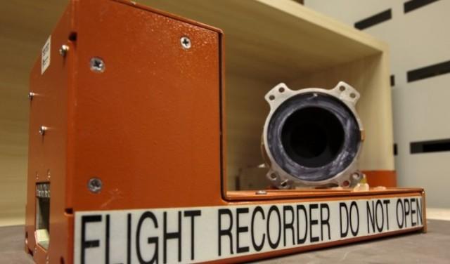 Gravador de voz da caixa-preta do avião