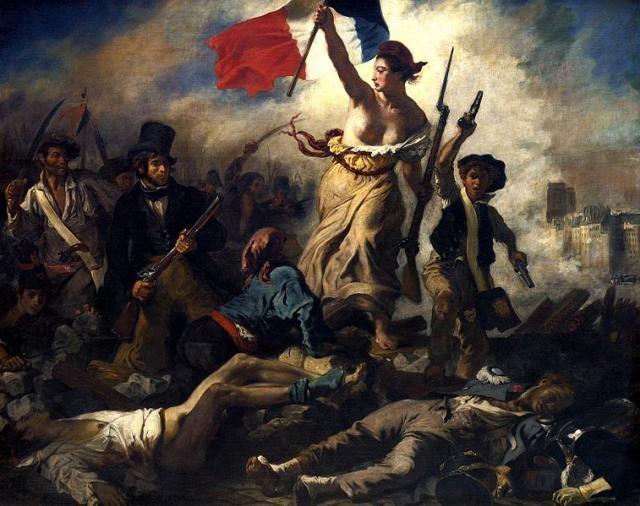"""""""A Liberdade Guiando o Povo"""", de Eugène Delacroix (Crédito: Reprodução)"""