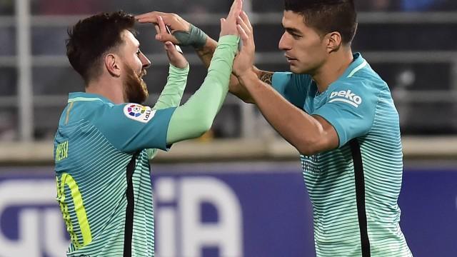 Messi e Suárez (Crédito: Reprodução)