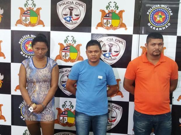 Os três acusados presos com a droga em São Luís (Crédito: Divulgação)