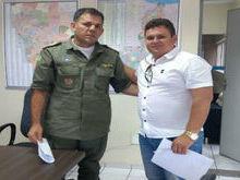 Prefeito de Santo Inácio solicita viatura ao comandante da policia