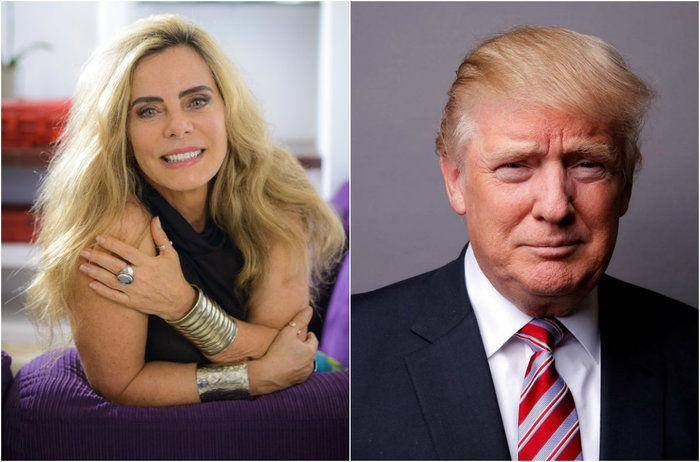 Bruna Lombardi já entrevistou Donald Trump