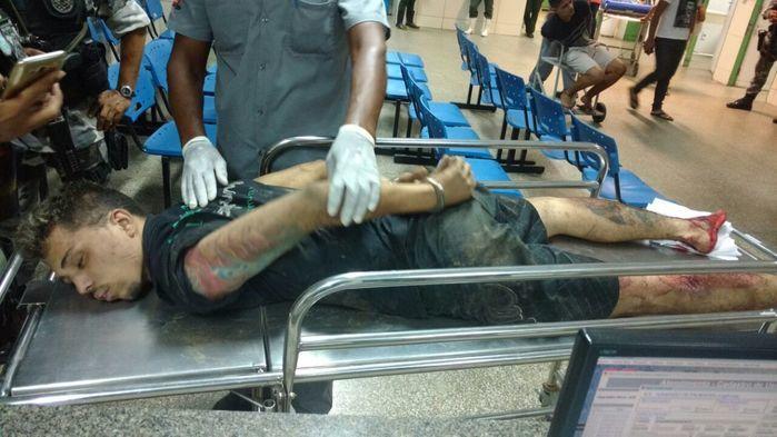 Walisson Laércio Ademir Oliveira foi alvejado com tiro na panturiilha e no pé