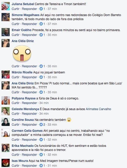 Usuários relatam experiência no Facebook (Crédito: Reprodução)
